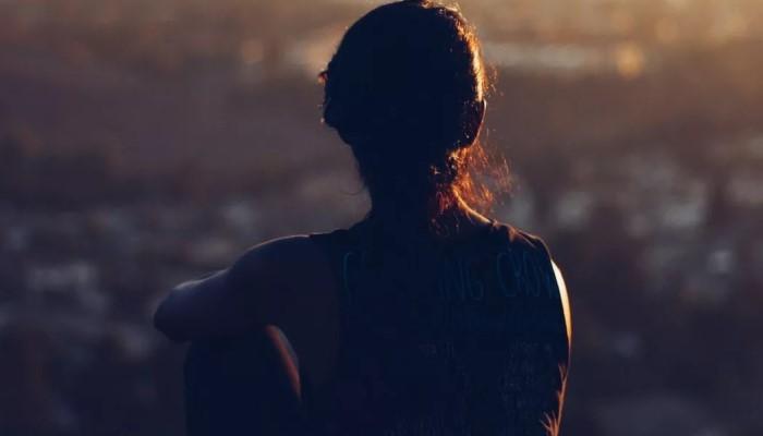 Дама на закате