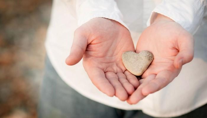 Камень в виде сердца